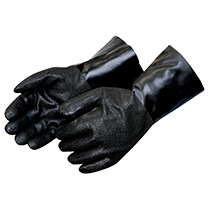 Liberty Glove Rough finish black PVC - interlock lined #2423