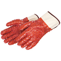 Liberty Glove PVC chips finish on red PVC - Jersey lined #2450