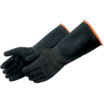 Liberty Glove Black natural rubber with crinkle finish - #2844
