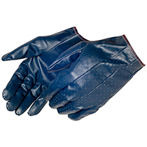 Liberty Glove Rough Cut & sewn blue nitrile coated - #9441