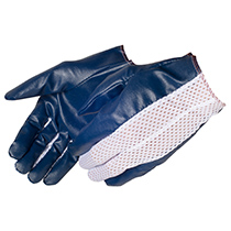 Liberty Glove cut and sewn blue nitrile coated glove - #9442