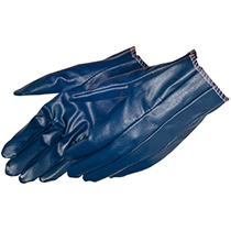 Liberty Glove Smooth finish blue nitrile glove with knit wrist - #9450