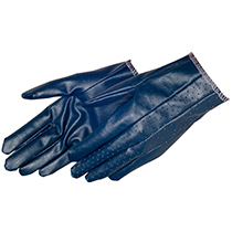 Ladies' size cut and sewn blue nitrile coated glove - #9451