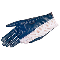 Ladies' size cut and sewn blue nitrile coated glove - #9452