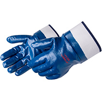 Liberty Glove cut and sewn blue nitrile coated glove - #9460SP