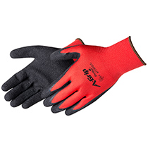Liberty Glove A-Grip® - Premium Textured Black Latex Palm Coated Seamless Glove - #4779RD