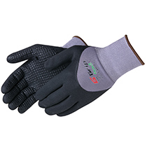 Liberty Glove G-Grip Nitrile Micro-Foam 3/4 back coated with dots - #F4605