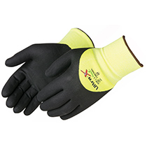 Liberty Glove U-Grip® Hi-Vis green seamless shell (foam nitrile coated) - #F4910HG