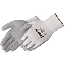 Liberty Glove P-Grip® Grey polyurethane - white shell - #P4639