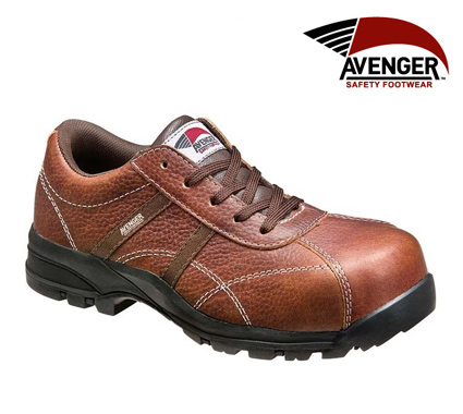 Avenger Women's Brown Composite Toe EH Shoe   #A7150