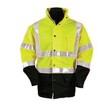 ML Kishigo 100 Lime Pro Stopper Rain Jacket