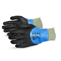SuperiorEmerald CX® Liquid Proof Kevlar®/Wire-Core™ Gloves with Nitrile Coating #SCXPNTFC