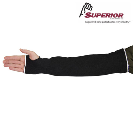 Superior CutBan™ Black Tapered Cut-Resistant Sleeves #KP1T 18, #KP1T 22