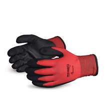 Superior Red Winter Lined Nylon Glove w/ PVC Palm  #SNTAPVC